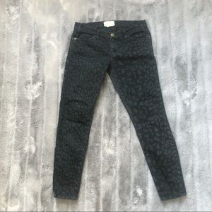 CURRENT ELLIOT | Leopard Skinny Jeans